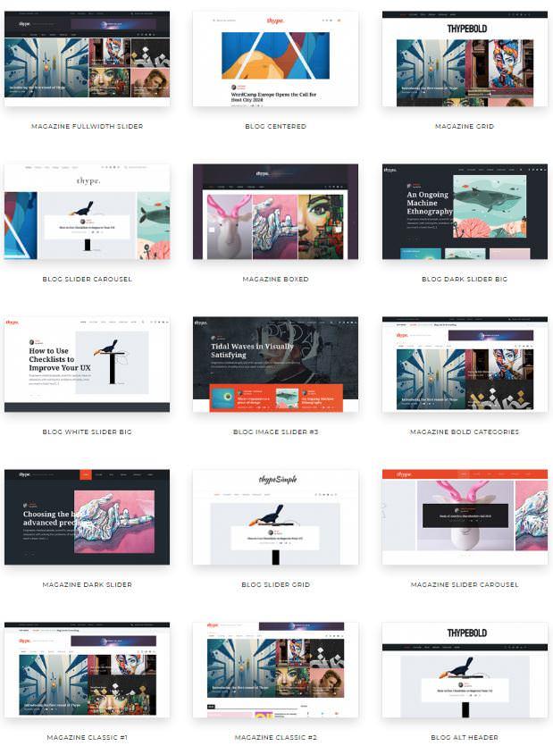 20 демоверсий готовых сайтов