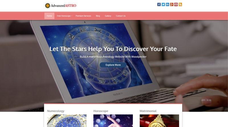 Advanced Astro - тема WordPress для астрологии