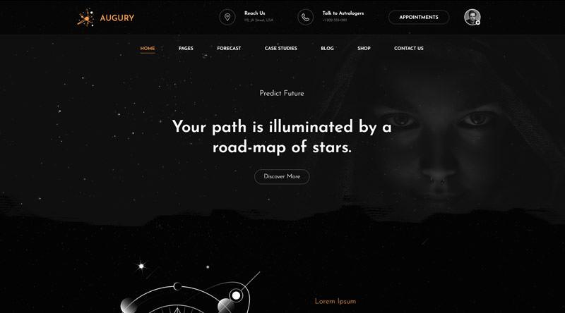 Augury - астрологическая тема WordPress