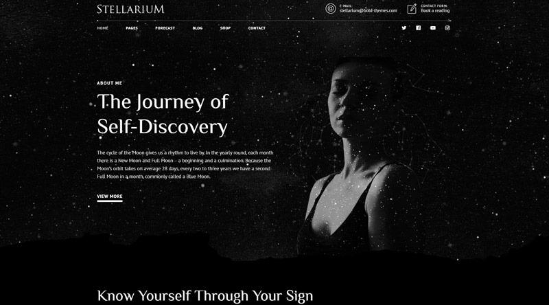 Stellarium - тема WordPress по гороскопу и астрологии