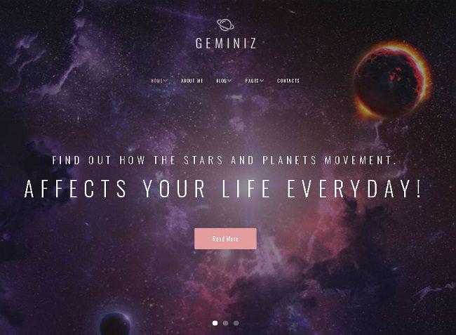 Geminiz - WordPress тема для блога астрологии