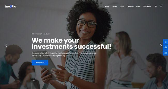 Inestio | Business & Creative WordPress шаблон для креативного и бизнес портфолио