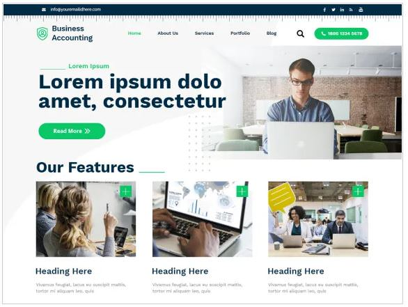 Скриншот темы Business Accounting