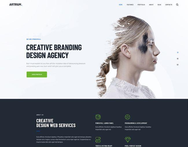Artrium | WordPress шаблон для креативного портфолио