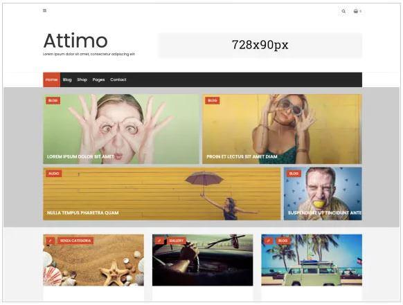 Attimo - это творческая и чистая минимальная дочерняя тема Avventura Lite