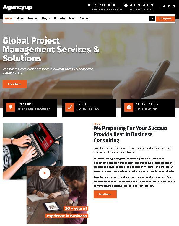 Busiage WordPress тема идеально подходит для бизнеса