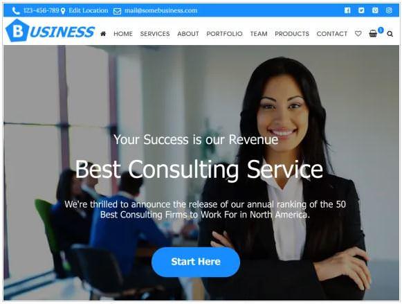 Бесплатный шаблон Business Consulting идеально подходит для бизнеса