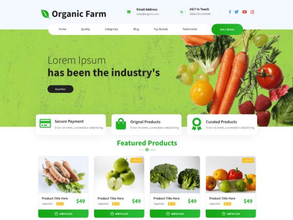 Бесплатная темаOrganic Farm