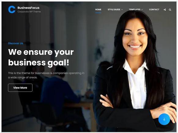 BusinessFocus - это тема Free Responsive Business WordPress с бизнес-ориентированным дизайном и функциональностью