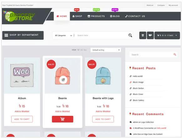 Grocery Shop - это чистая и хорошо продуманная дочерняя тема электронной коммерции WordPress в Grocery Store