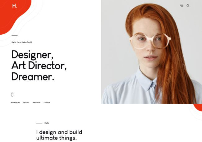 Helion | WordPress шаблон для персонального портфолио с магазином