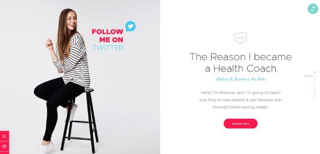 Health Coach Blog & Lifestyle Magazine | WordPress шаблон сайта мотивационного коуча