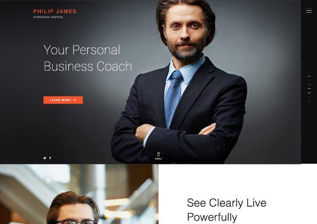 PJ | WordPress шаблон сайта бизнес-коуча