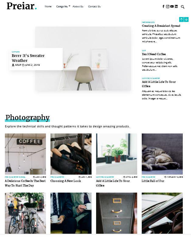 Periar Blog - это многофункциональная блоговая тема