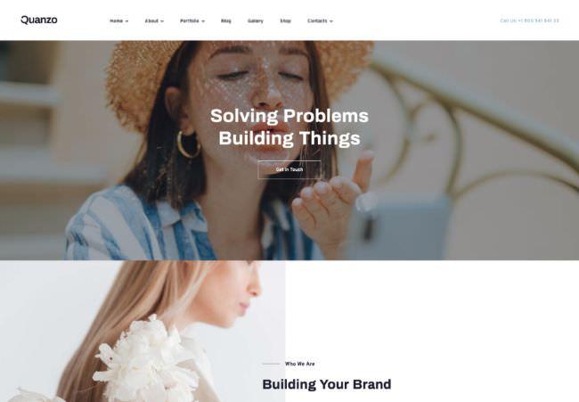 Quanzo | WordPress шаблон для персонального портфолио