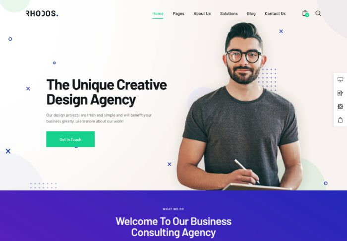 Rhodos | WordPress шаблон для креативного и бизнес портфолио