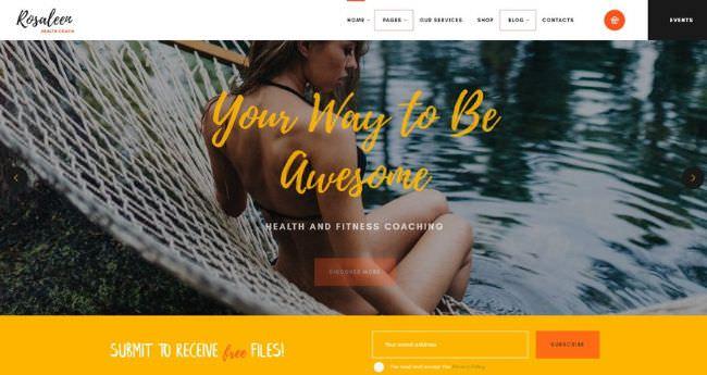 Rosaleen | WordPress шаблон для мотивационного коуча и спикера