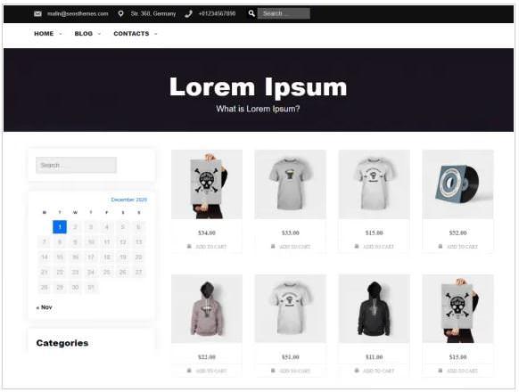 Shops - это многофункциональная тема и тема HTML5 WordPress