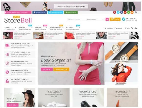 Тема предназначенна для интернет-магазинов электронной коммерции.