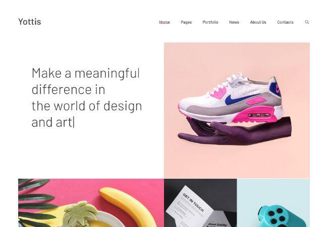 Yottis | WordPress шаблон для креативного портфолио и сайта-визитки