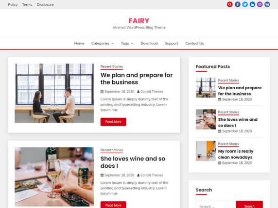 Скриншот шаблона Fairy