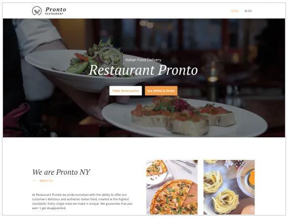 Скриншот темы GloriaFood Restaurant