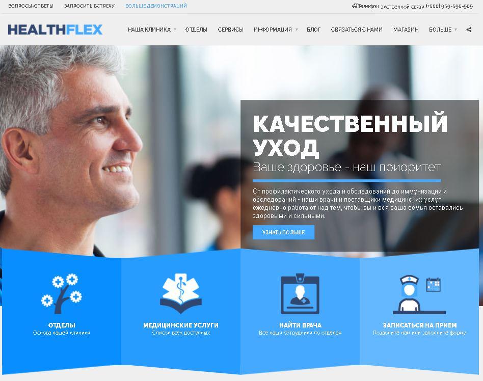 Скриншот темы HealthFlex