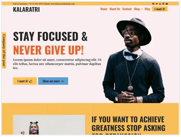 Скриншот бесплатной темы Kalaratri
