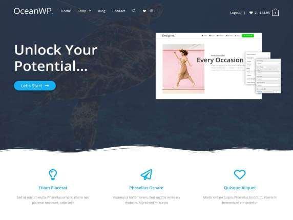 Скриншот шаблона OceanWP