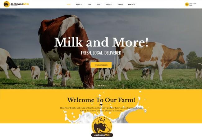 Dairy Farm & Eco Milk Products WordPress Theme