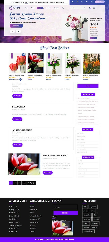 Florist Flower Shop бесплатный шаблон для цветочного магазина 2021