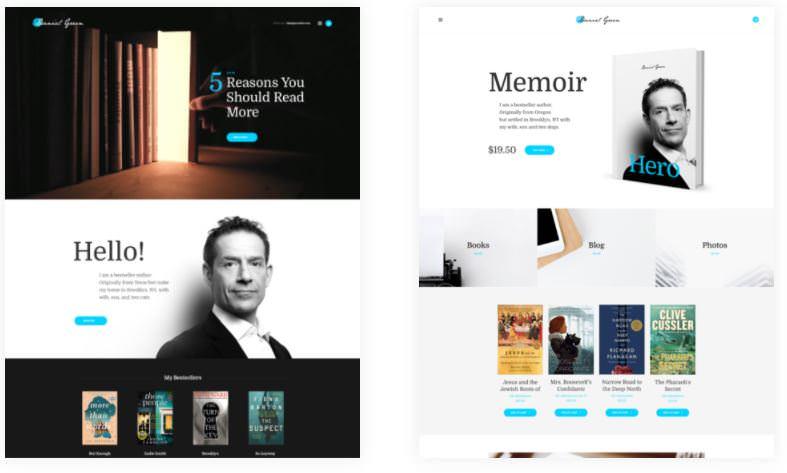 Блог для писателей и журналистов с темой WordPress для книжного магазина