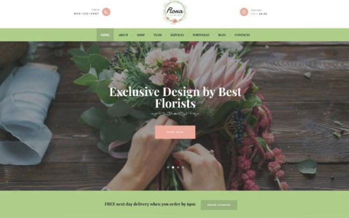 Скриншот Flowers Boutique and Florist